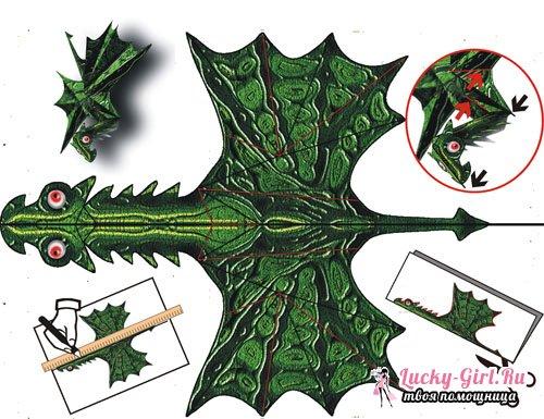 Как сделать дракона из бумаги? Описание, схемы и видео урок