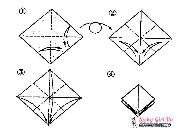 Оригами из бумаги: птица. Описание и схемы для изготовления оригами птиц