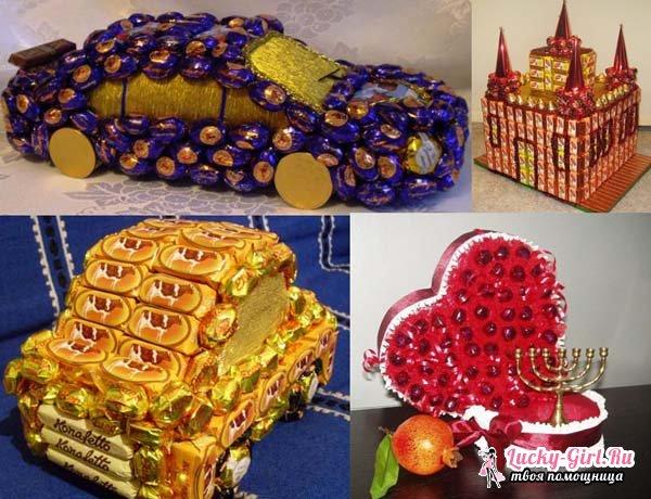 Поделки из конфет. Особенности изготовления и интересные идеи