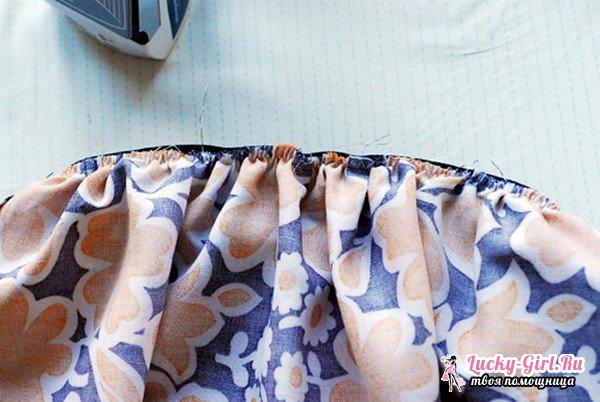 Как пришить резинку к юбке? Юбка на резинке своими руками: описание работы