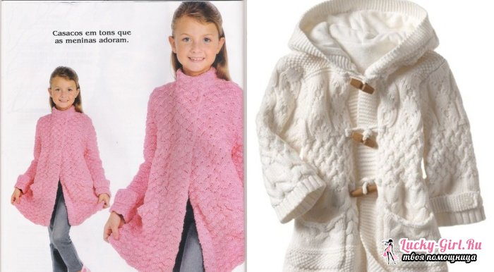 Пальто вязаное спицами. Популярные женские и детские модели
