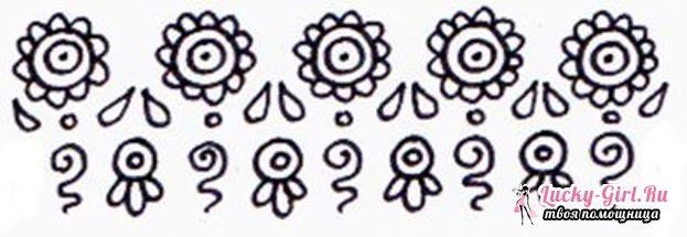 Как нарисовать узоры? Основные правила рисования узоров и простые схемы для начинающих