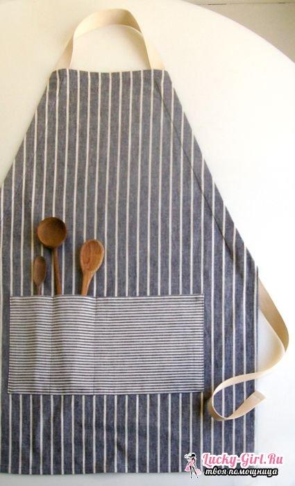 Фартук для кухни своими руками: как сшить? Советы по изготовлению и выкройки моделей
