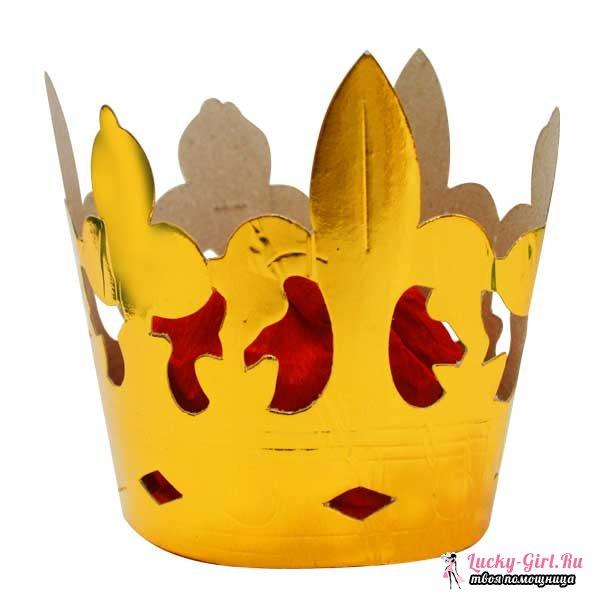 Как сделать корону из бумаги? Как сделать корону для снегурочки?