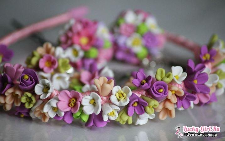 Ободки с цветами своими руками. Способы изготовления и фото готовых изделий