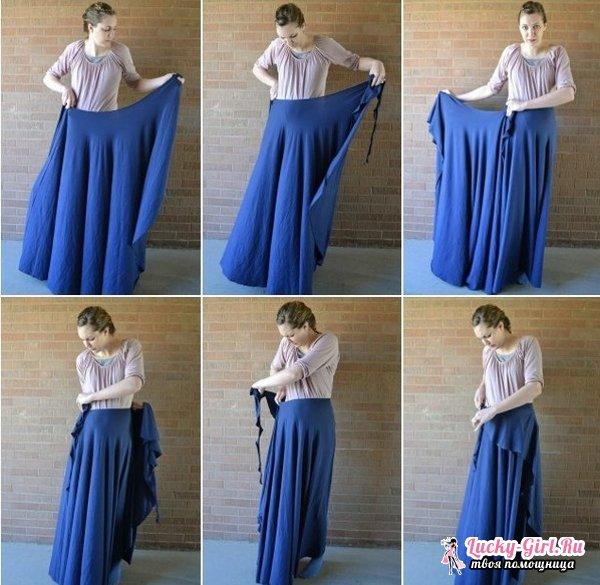 Юбка с запахом: простая выкройка. Как сшить юбку с запахом?