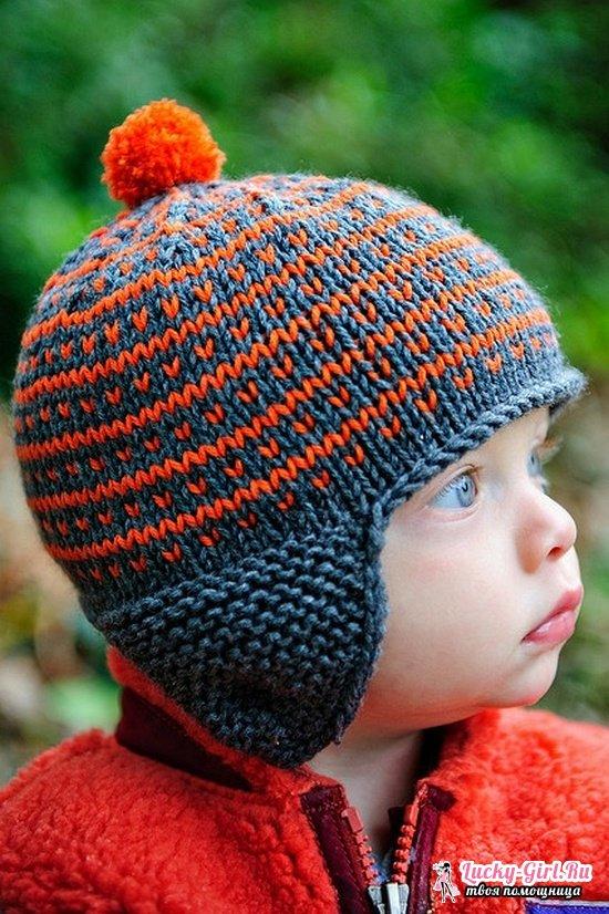 Шапочка для мальчика: как связать спицами? Описание вязание детской шапочки и шапочки для новорожденного