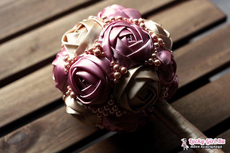 Ютуб мастер класс розы из лент  #7