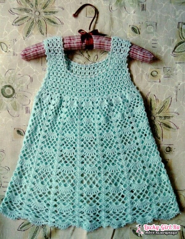 Вязать платье крючком для девочки