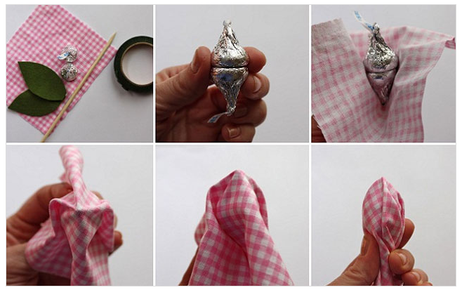 Букеты из конфет своими руками пошаговые фото для начинающих