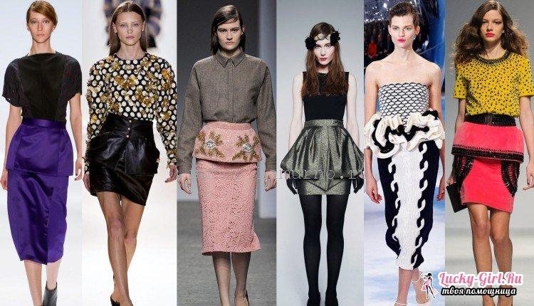 Как сшить юбку с баской? Модный тренд на века!