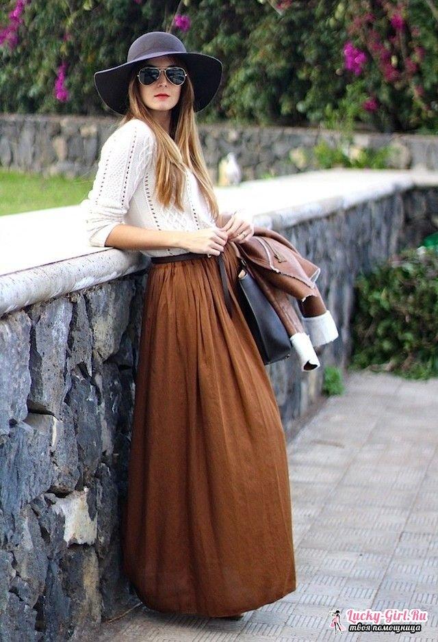 Как сшить юбку в пол своими руками?