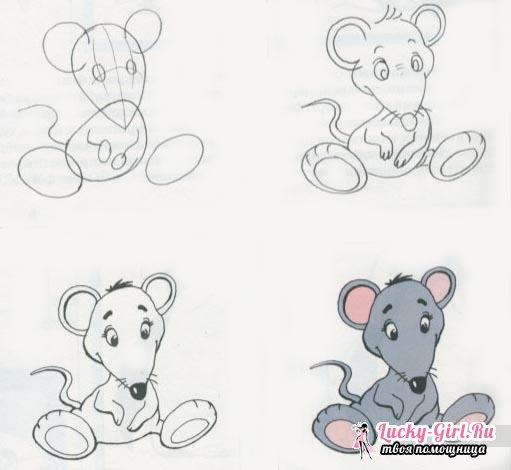 Рисунки карандашом животных для начинающих