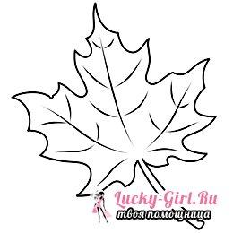 Как нарисовать кленовый лист?