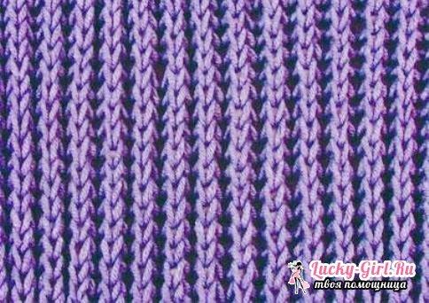 Вязание английской резинки спицами