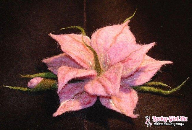 Валяние цветов из шерсти своими руками