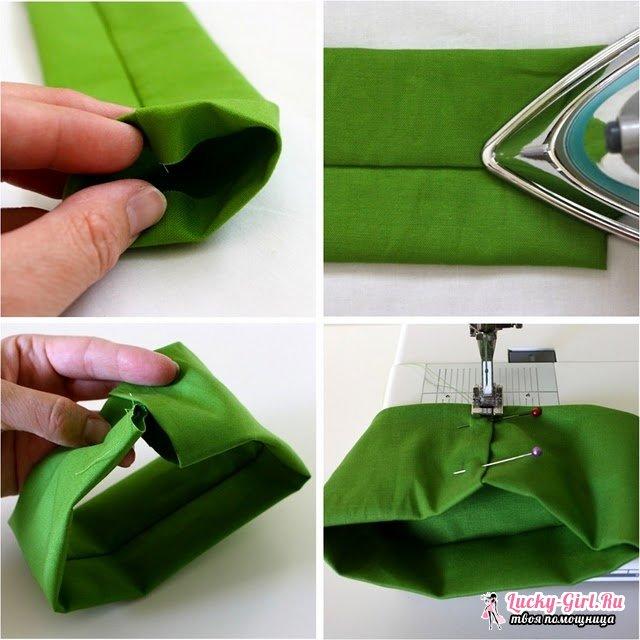 Как сделать галстук на шею своими руками из ткани 48
