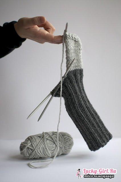 Вязание носков спицами для начинающих