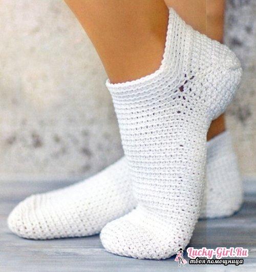 Носки крючком для начинающих