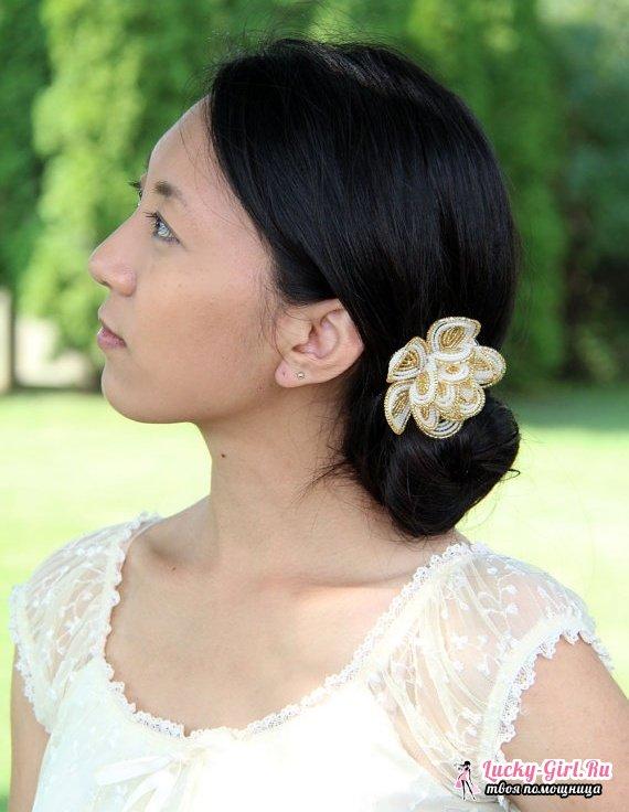 Роза из бисера: схема плетения