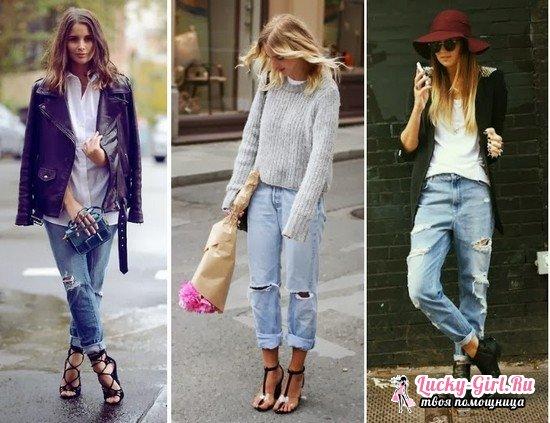 С чем носить джинсы бойфренды зимой и в теплые сезоны, с какой обувью?