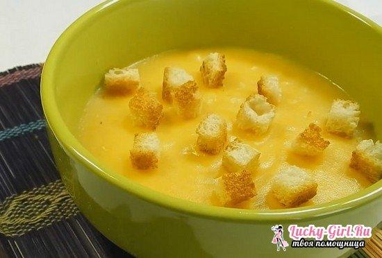 Как приготовить суп-пюре из картофеля с гренками: пошаговый рецепт