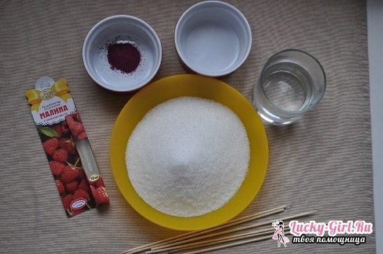 Рецепт петушков на палочке в домашних условиях: готовим вкусные леденцы из сахара