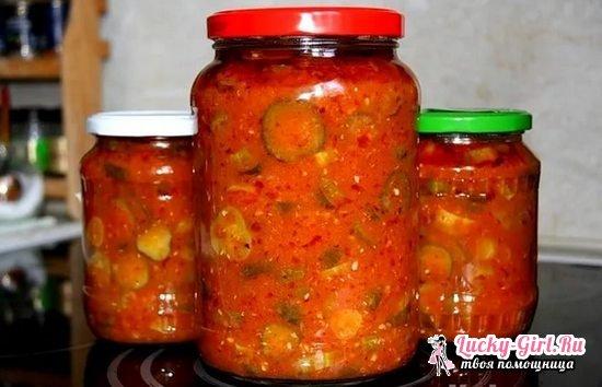 Как сделать салат из перезрелых огурцов на зиму