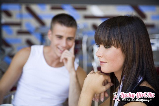 Скрытая симпатия мужчины к женщине