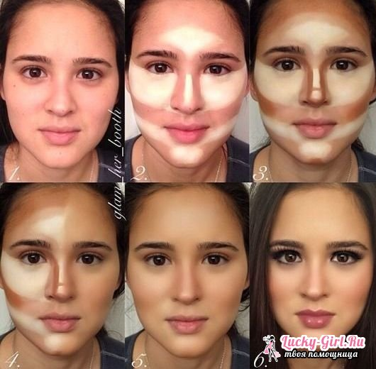 Как сделать правильный макияж лица Брови круглолицых барышень должны иметь