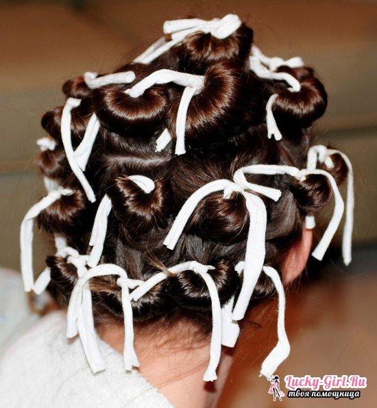 Как накрутить волосы на тряпочки: простые советы