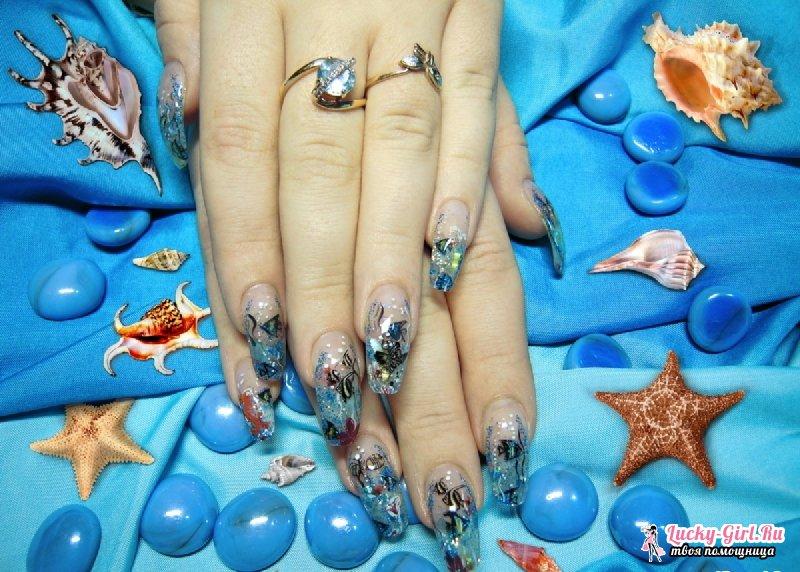 Аквариумный дизайн ногтей. Особенности и преимущества техники, видео урок