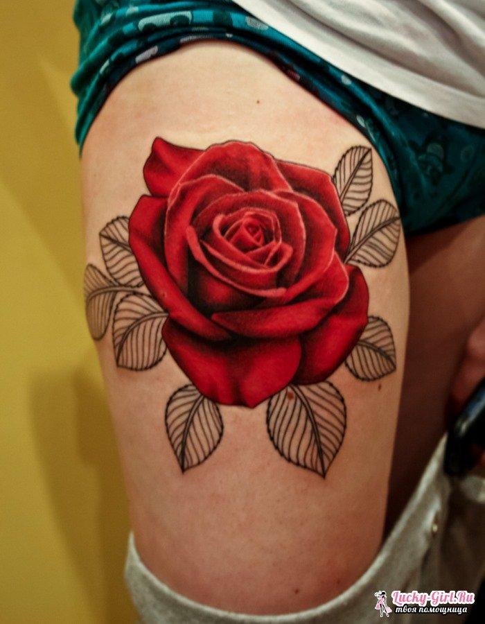 Значение татуировок для девушек. Как выбрать место для татуировок?