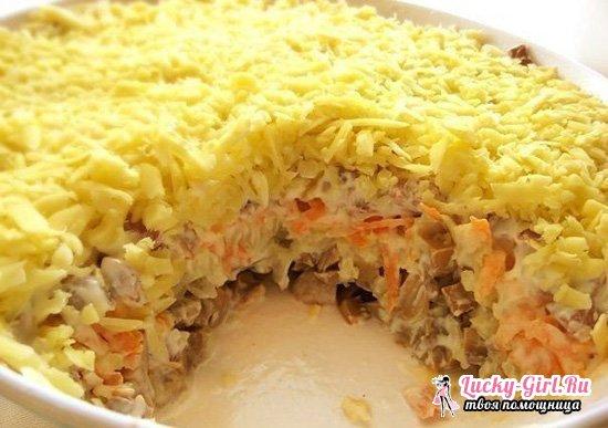 Салат подсолнух  пошаговый рецепт с чипсами, с кукурузой, курицей, фото