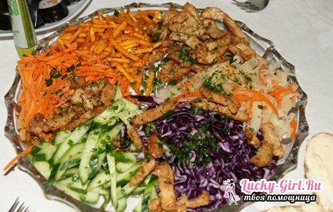 Салат Ералаш - 4 разных рецепта