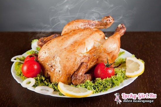 Курица в духовке целиком: рецепты с фото
