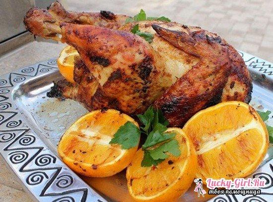 Курица гриль в духовке: рецепты приготовления