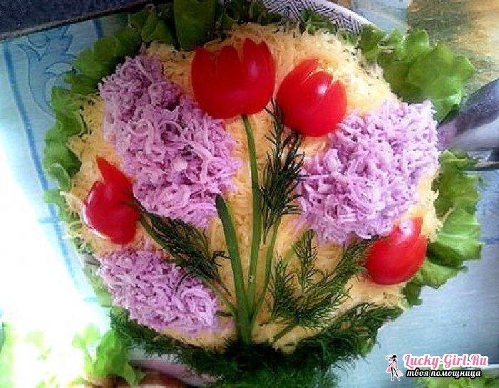 Как украсить салат мимоза?