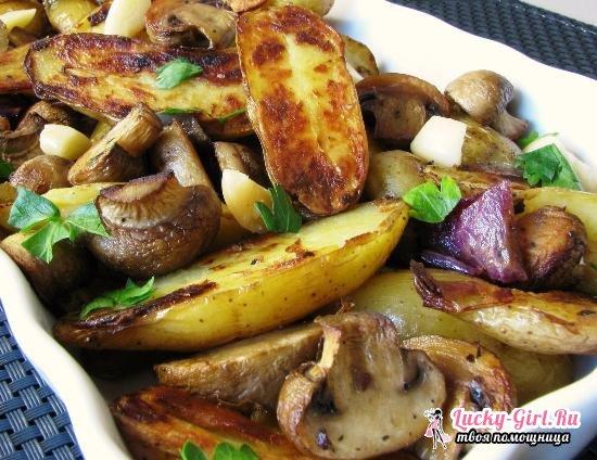 Сколько и как жарить шампиньоны на сковороде  рецепты с картошкой и сметаной