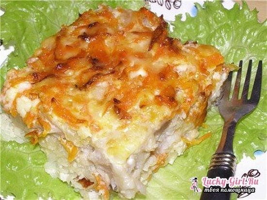 Минтай в духовке с картошкой: простые и вкусные рецепты