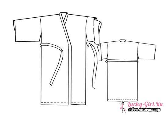 Выкройка платья с запахом и халата-кимоно