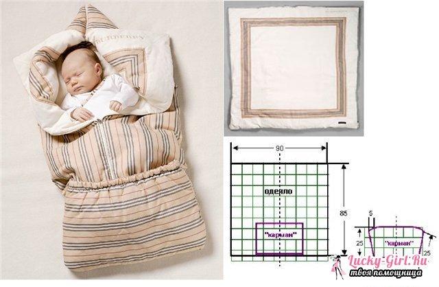 Одеяло трансформер для новорожденного: особенности выбора материалов и пошива