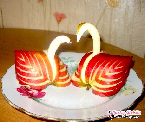 Как сделать лебедя из яблока? Пошаговое описание изготовления и полезные советы