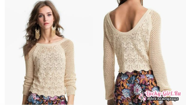 Пуловер женский спицами: изготовление. Пуловер ажурный спицами: рекомендации и схемы