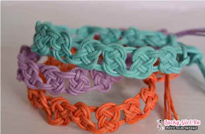 Макраме браслеты: техника плетения. Основные узлы и описание работы
