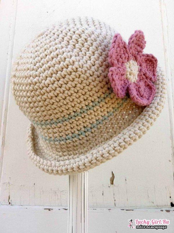 шляпа крючком для девочки схема и описание