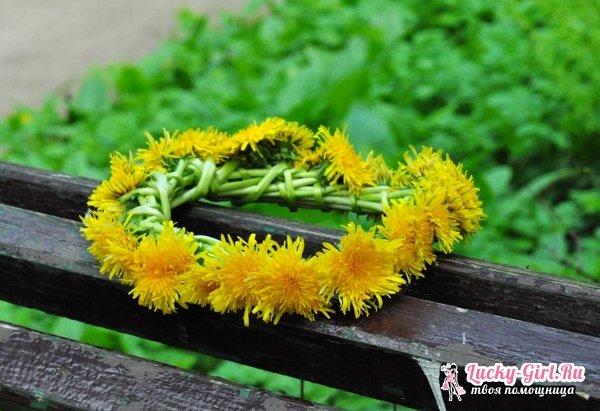 Венок из цветов на голову. Как изготовить венок на голову из живых и искусственных цветов