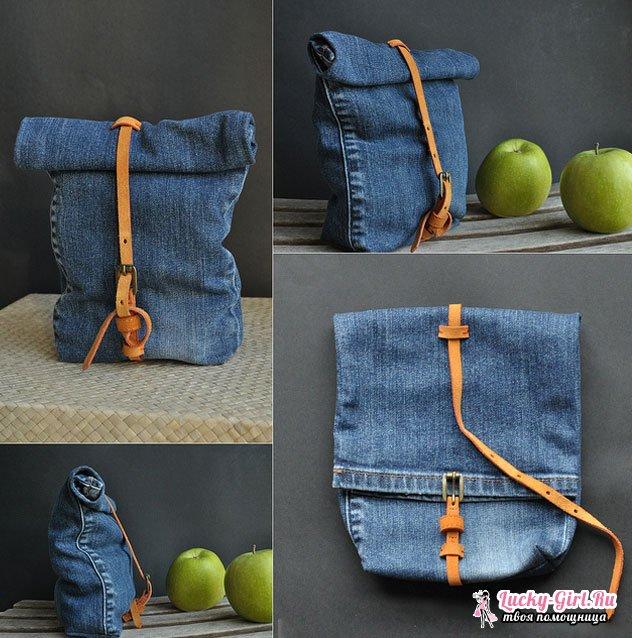 Сумка из джинсов своими руками. Выкройки различных вариантов сумок из джинсов