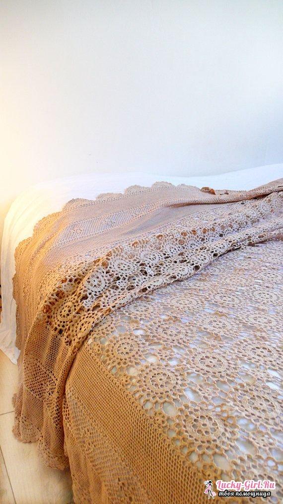 Покрывало крючком: приемы изготовления. Покрывало на кровать своими руками: описание вязания