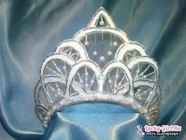 Корона снежинки своими руками. Корона принцессы своими руками: как сделать?